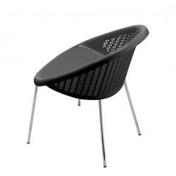 Chaise anthracite de terrasse en polypropylène BON BON