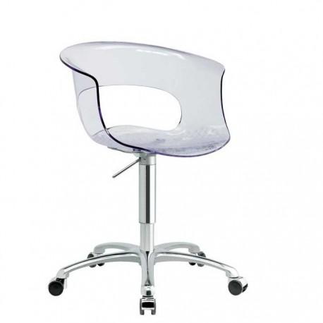 Chaise de bureau a roulette transparente MISS B