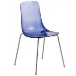 Chaise design Italien PAULINE transparente