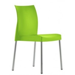 Chaise plastique verte empilable ICE