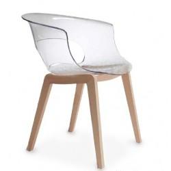 Chaise design pied bois MISS B