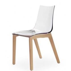 Chaise design transparente ZEBRA WOOD