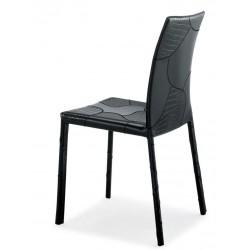 Chaise cuir noir SAISON