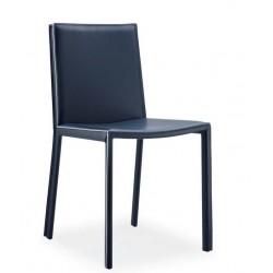 Chaise cuir ALEXIE noir