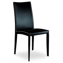 Chaise de salle à manger en cuir ISCHA.