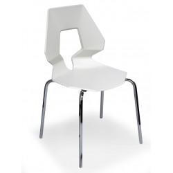 Chaise de cuisine blanche