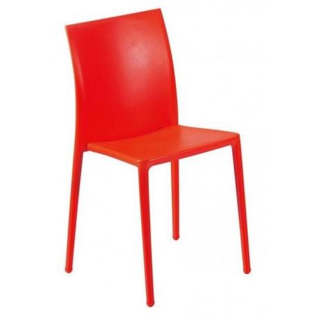 Chaise de cuisine moderne rouge MOON