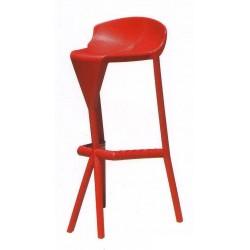 Tabouret de bar rouge design SHIVER.
