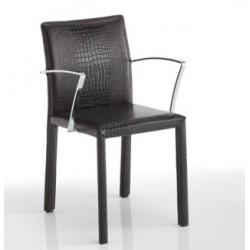 Chaise cuir avec accoudoir SISSI