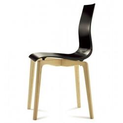 Chaise plastique bois GEL