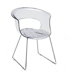 Chaise design transparente MISS B