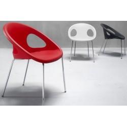 Chaises design DROP 4 pieds.