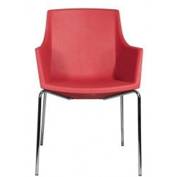 Chaise de salle a manger SIZA R rouge