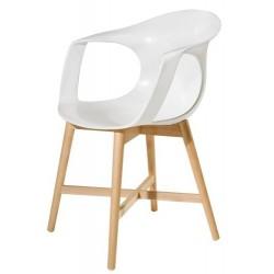 Chaise de salle à manger design FLICK M blanc