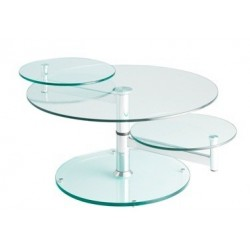 Table basse design en verre PARIS.