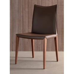 Chaise en cuir FLORA