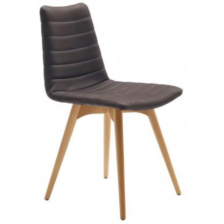 Chaise design pieds bois COVER L