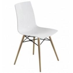 Chaise design pieds bois X-TREME blanc.