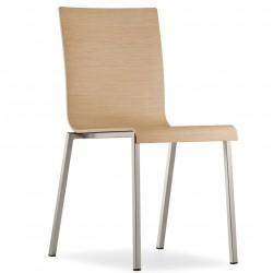 PEDRALI chaise moderne en bois KUADRA 1321.