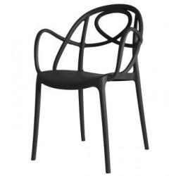 Chaise design en plastique avec accoudoir ETOILE.