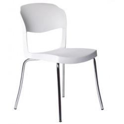 Chaise design STRASS blanche.