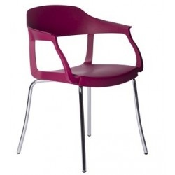 Fauteuil en plastique design EVO STRASS P violet.
