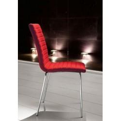 Chaise de salle à manger 4 pieds KRONO rouge.