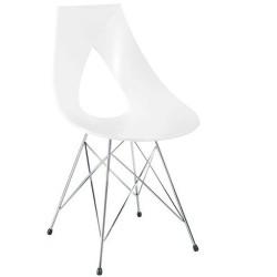 Chaise design plastique NASTRO blanche.