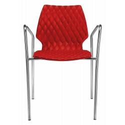 Chaise design avec accoudoir UNI 551.