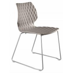 Chaises design plastique UNI 552 par METALMOBIL