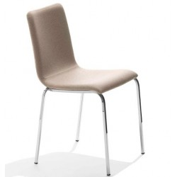 Chaise cuir régénéré PASSEPARTOUT.
