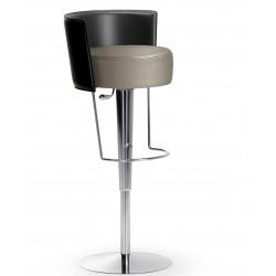 Tabouret réglable en cuir design Bongo CU par MIDJ.