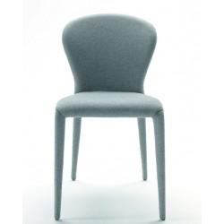 Chaise en cuir Soffio TS par Midj.