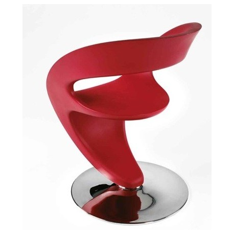 Chaise design rouge PIN UP