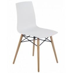 Chaise design pieds bois X-TREME Premium blanche.