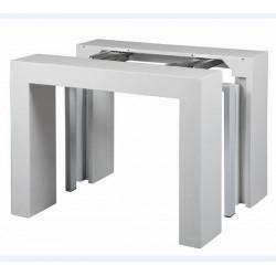 Table console extensible MAGIC laqué blanc.