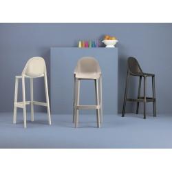 Chaise de bar polypropylène design Più par Scab.