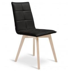 Chaise design avec pied bois IRIS.