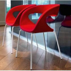 Chaise de salle à manger en vinyle Raff S-TS par midj.