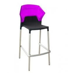 Tabouret haut design violet EGO S