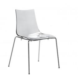 Chaise design empilable ZEBRA transparent