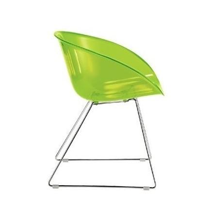 Chaise design bureau GLISS 921 vert.