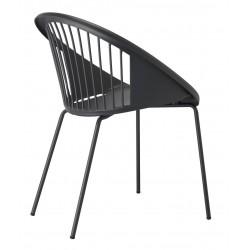 Chaise design Giulia d'extérieur Scab antrhacite