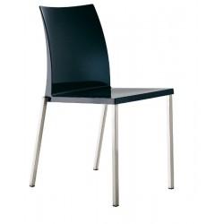 Chaise design plastique KUADRA noir