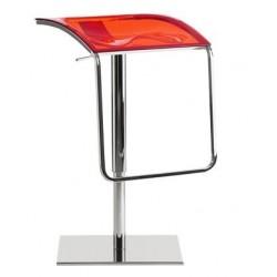 Tabouret design réglable AROD rouge translucide