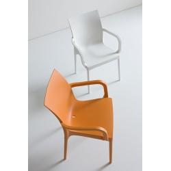 PROMOTION - Chaise de jardin IRIS Orange.