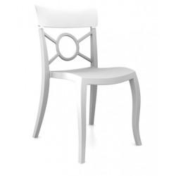 Chaise restaurant design OPERA blanche