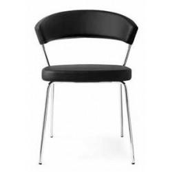 Chaise design en cuir NEW YORK
