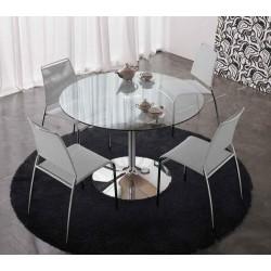 Table design en verre ronde ARMONY transparente