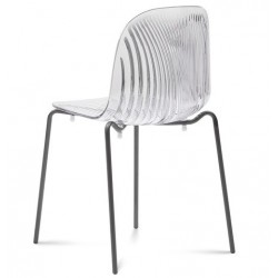 Chaise transparente PLAYA par Domitalia.